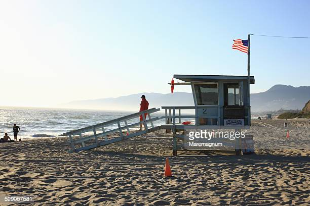malibu area, life guard - malibu beach stock pictures, royalty-free photos & images