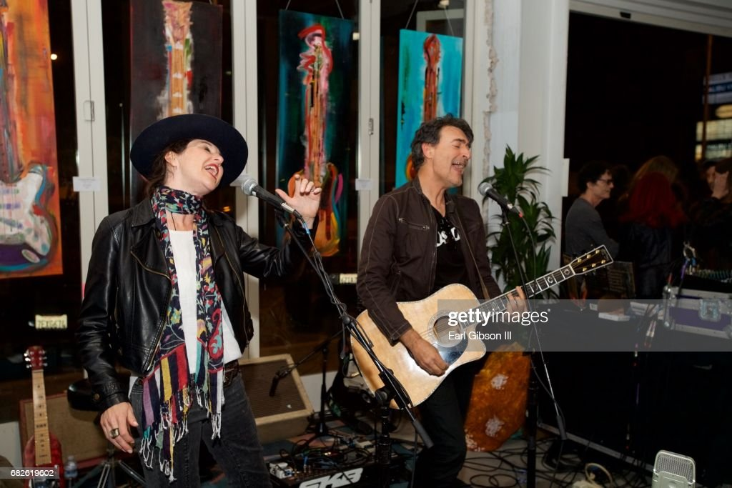 Malibu Band Blue Dolphin performs at the Malibu Guitar Festival Gallery Opening Reception at Malibu Village on May 12, 2017 in Malibu, California.