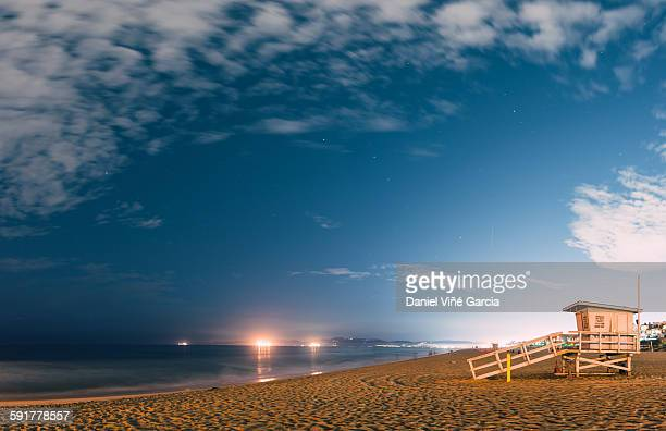 malibu beach at night - malibu beach stock pictures, royalty-free photos & images