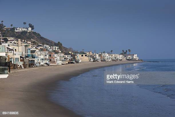 malibu beach houses - malibu beach stock pictures, royalty-free photos & images