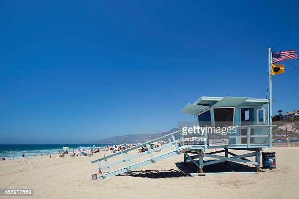 malibu beach lifeguard - zuma beach stock photos and pictures