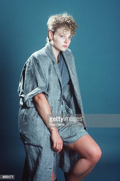 Malibu CA A Jodie Foster photo shoot while on summer recess from her last year at Yale University where she graduated in 1985 with a BA in literature...