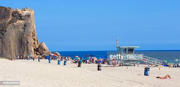 malibu ca - zuma beach stock photos and pictures