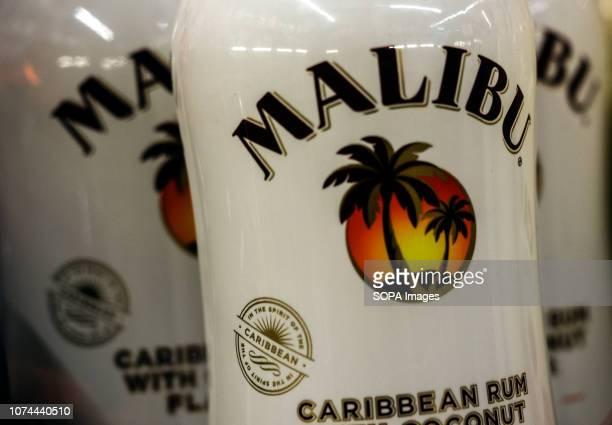Malibu Caribean rum seen in the store.