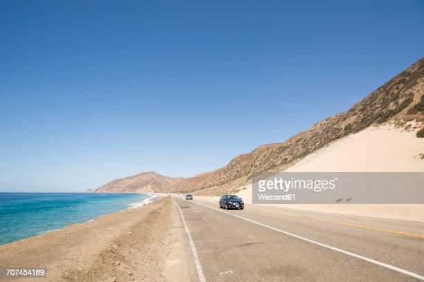 USA, Malibu, cars on Pacific Coast Highway
