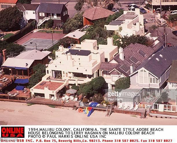 1994 Malibu Colony The Malibu Colony Sante Fe Style Adobe Beacj House Belonging To Larry Hagman