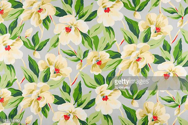 malibu floral antique fabric - floral pattern stock pictures, royalty-free photos & images