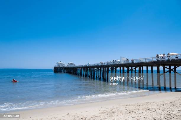 malibu pier - malibu beach stock pictures, royalty-free photos & images