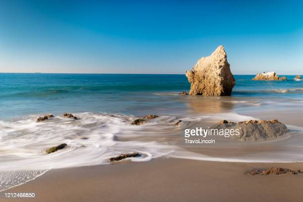 malibu sunrise over la piedra state beach - malibu beach stock pictures, royalty-free photos & images