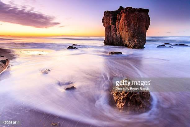 malibu sunrise - malibu beach stock pictures, royalty-free photos & images