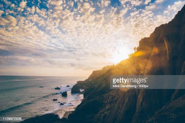 malibu sunset - malibu beach stock pictures, royalty-free photos & images