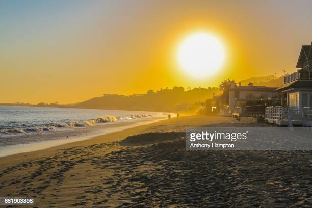 malibu sunset - beach house stock pictures, royalty-free photos & images