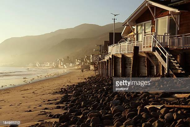 malibu topanga beach sunset - malibu stock pictures, royalty-free photos & images