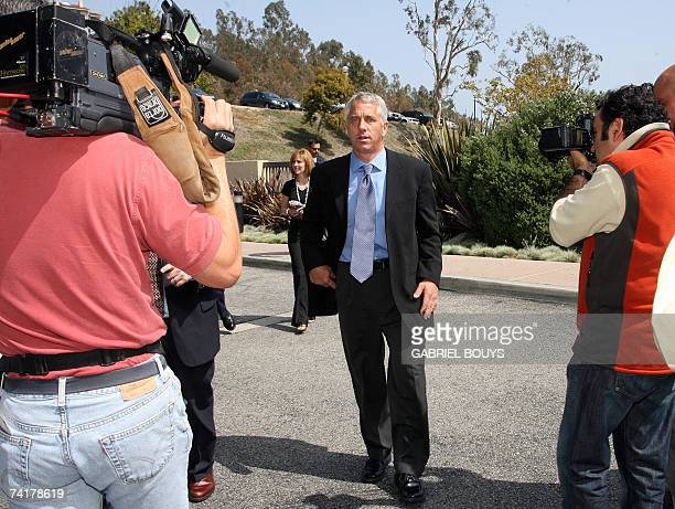 Greg LeMond and his wife Kathy leave the courthouse 17 May 2007 in Malibu California after LeMond revealed he had been sexually abused as a child and...