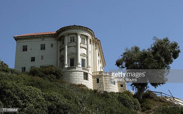 Outside view of the Getty Villa in Malibu California 12 October 2006 The Getty Villa exhibits classical antiquities collection of Greek Roman and...