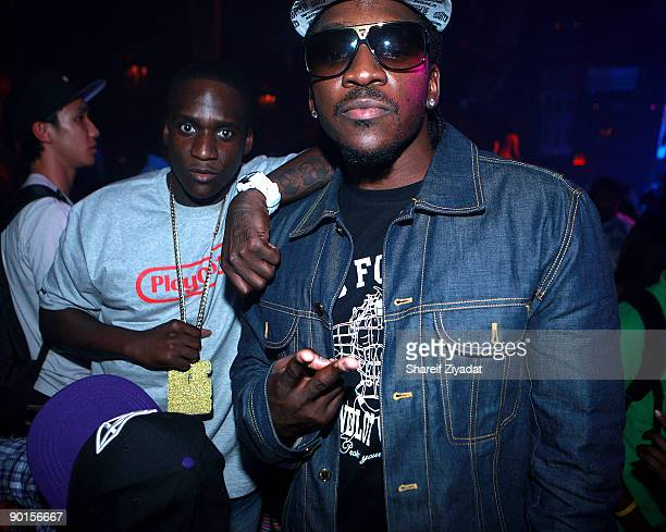 Malice and Pusha T of The Clipse attend Mario's birthday party at M2 Ultra Lounge on August 28, 2009 in New York City.