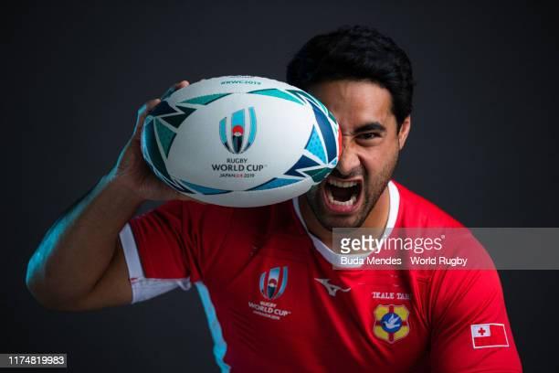 Malietoa Hingano of Tonga poses for a portrait during the Tonga Rugby World Cup 2019 squad photo call on September 13 2019 in Kumagaya Saitama Japan