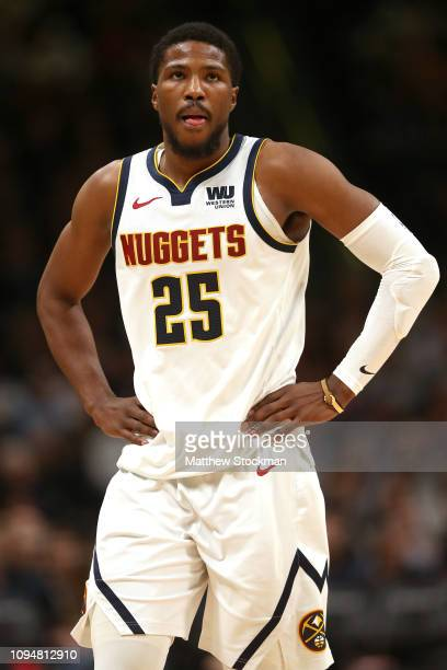 Malik Beasley of the Denver Nuggets plays the Golden State Warriors at the Pepsi Center on January 15 2019 in Denver Colorado NOTE TO USER User...