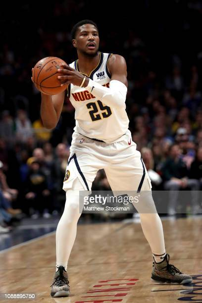 Malik Beasley of the Denver Nuggets plays the New York Knicks at the Pepsi Center on January 01 2019 in Denver Colorado NOTE TO USER User expressly...