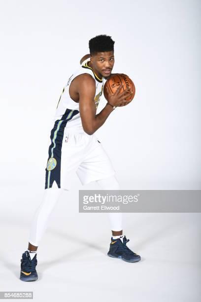 Malik Beasley of the Denver Nuggets poses for a photo during media day on September 25 2017 at the Pepsi Center in Denver Colorado NOTE TO USER User...