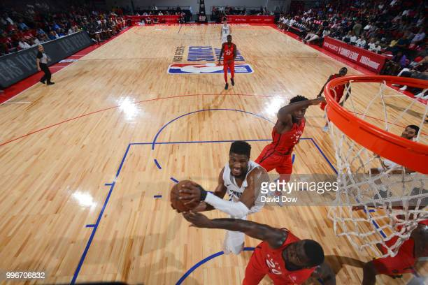 Malik Beasley of the Denver Nuggets shoots the ball against the Toronto Raptors during the 2018 Las Vegas Summer League on July 11 2018 at the Cox...