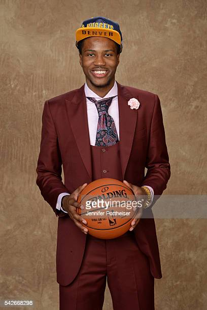 Malik Beasley poses for a portrait after being drafted number nineteen overall to the Denver Nuggets during the 2016 NBA Draft on June 23 2016 at...