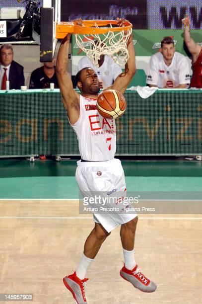 Malik Hairston of EA7 Emporio Armani in action during the Lega Basket Serie A match between Umana Venezia and EA7 Emporio Armani Milan on May 22 2012...
