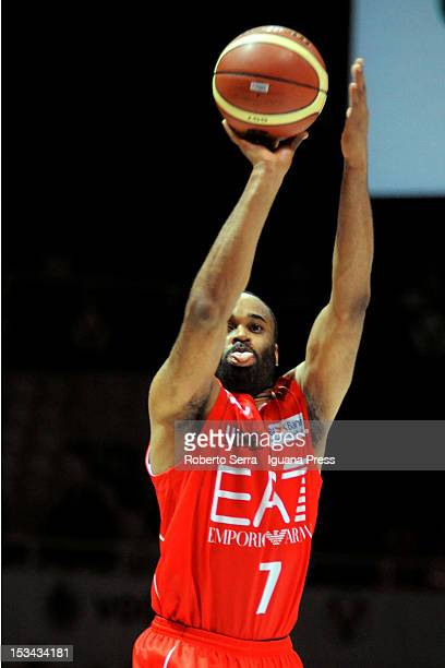 Malik Hairston of EA7 in action during the Lega Basket Serie A match between SAIE3 Bologna and EA7 Emporio Armani Milano at Unipol Arena on October 3...