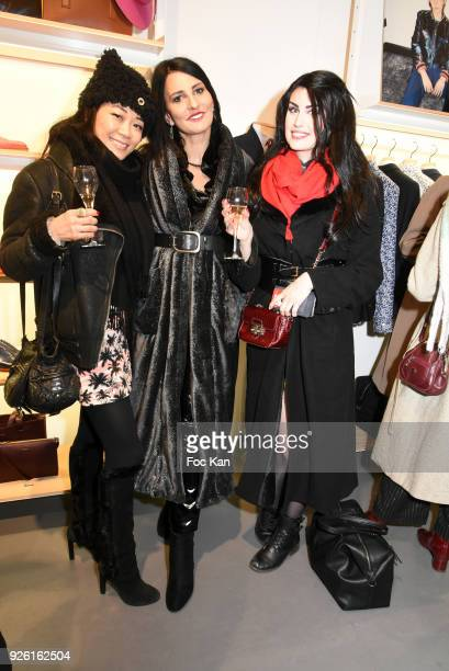 Malik Lambert Sylvie Ortega Munos and Elsa Oesinger attend the Paul Smith and Technikart Party at Paul Smith Marais Shop on March 1 2018 in Paris...