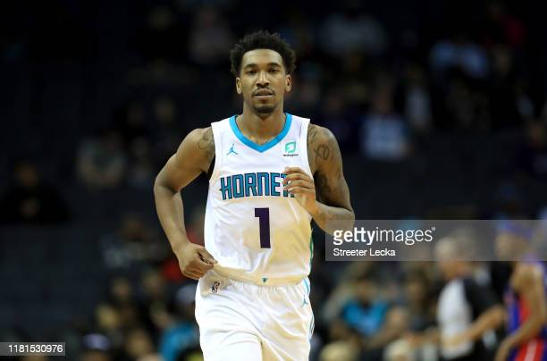 Malik Monk of the Charlotte Hornets during their game at Spectrum Center on October 16, 2019 in Charlotte, North Carolina. NOTE TO USER: User...