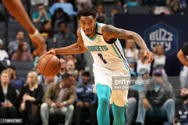 Malik Monk of the Charlotte Hornets handles the ball against the Orlando Magic on February 3, 2020 at Spectrum Center in Charlotte, North Carolina....