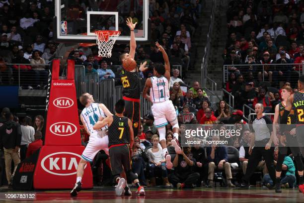 Malik Monk of the Charlotte Hornets passes the ball against the Atlanta Hawks on February 9 2019 at State Farm Arena in Atlanta Georgia NOTE TO USER...