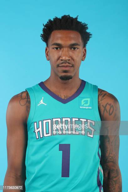 Malik Monk of the Charlotte Hornets poses for a head shot at Media Day at Spectrum Center in Charlotte, North Carolina on September 30, 2019. NOTE TO...