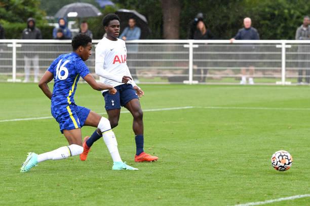 Malik Mothersille of Chelsea scores the sixth goal during the Tottenham Hotspur v Chelsea U18 Premier League match at Tottenham Hotspur Training...