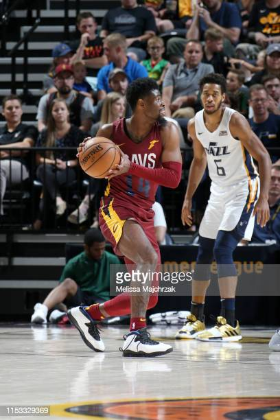Malik Newman of Cleveland Cavaliers handles the ball against the Utah Jazz on July 2 2019 at vivintSmartHome Arena in Salt Lake City Utah NOTE TO...