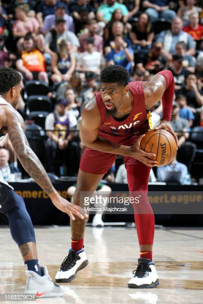 Malik Newman of Cleveland Cavaliers handles the ball against the Utah Jazz on July 2, 2019 at vivint.SmartHome Arena in Salt Lake City, Utah. NOTE TO...