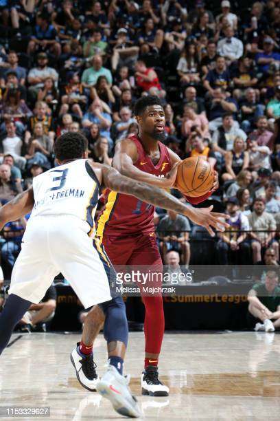 Malik Newman of Cleveland Cavaliers passes the ball against the Utah Jazz on July 2, 2019 at vivint.SmartHome Arena in Salt Lake City, Utah. NOTE TO...