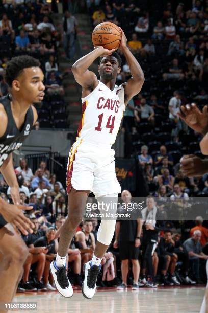 Malik Newman of the Cleveland Cavaliers shoots the ball against the San Antonio Spurs on July 1 2019 at vivintSmartHome Arena in Salt Lake City Utah...