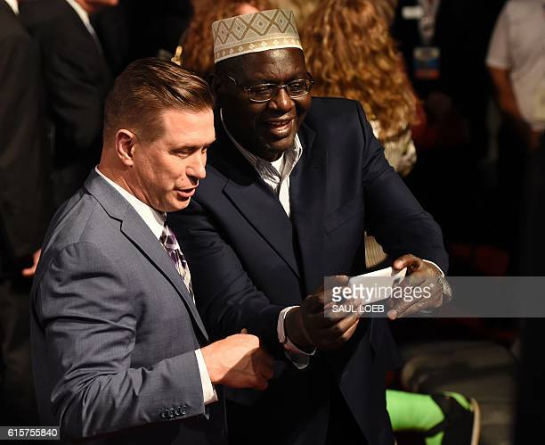 Malik Obama President Barack Obama's Kenyanborn halfbrother meets with actor Stephen Baldwin after the final presidential debate at the Thomas Mack...