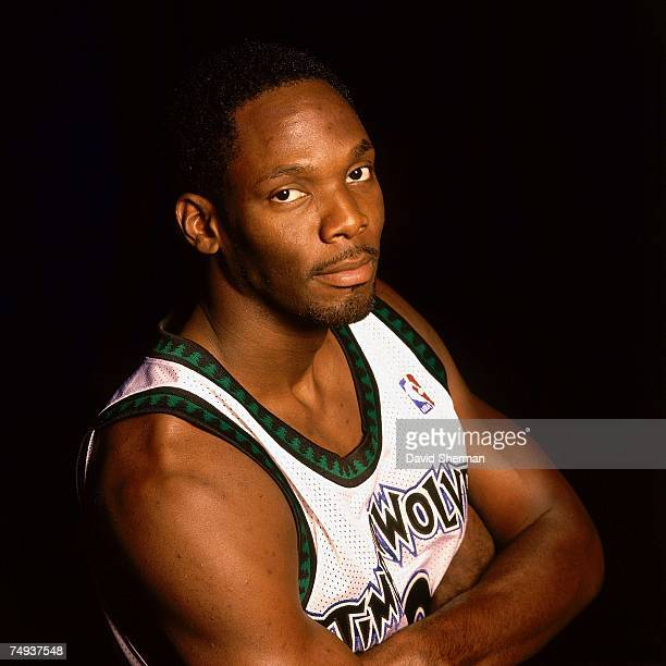 Malik Sealy of the Minnesota Timberwolves poses for a 2000 portrait in Minneapolis, Minnesota. NOTE TO USER: User expressly acknowledges that, by...