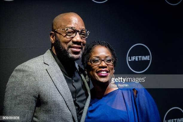 """Malik Yoba and Antoinette Tuff attend """"Faith Under Fire: The Antoinette Tuff Story"""" Screening at NeueHouse Madison Square on January 23, 2018 in New..."""
