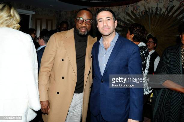 Malik Yoba and Ari Melber attend Paramount Pictures Hosts A Special Screening Of 'What Men Want' at Crosby Street Hotel on February 4 2019 in New...