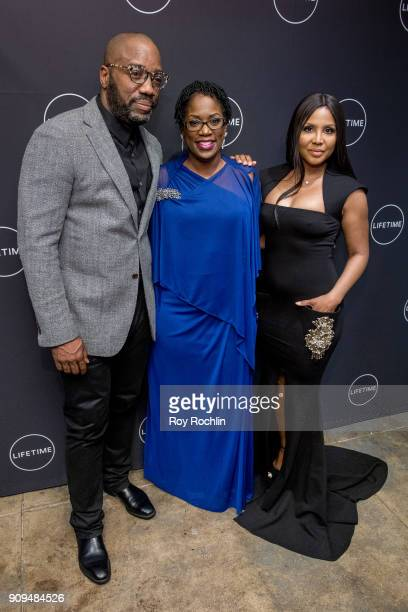 "Malik Yoba, Antoinette Tuff and Toni Braxton attend ""Faith Under Fire: The Antoinette Tuff Story"" Screening at NeueHouse Madison Square on January..."