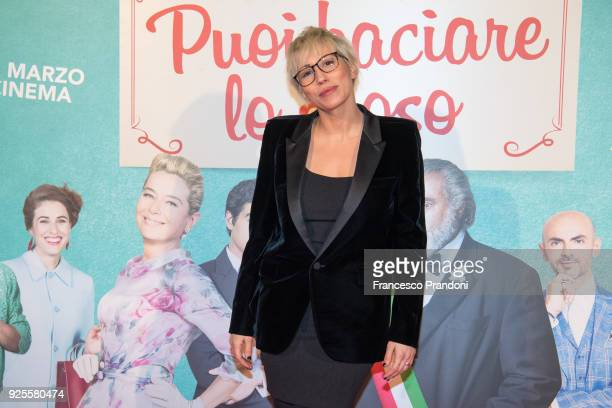 Malika Ayane attends a photocall for 'Puoi Baciare Lo Sposo' on February 28 2018 in Milan Italy