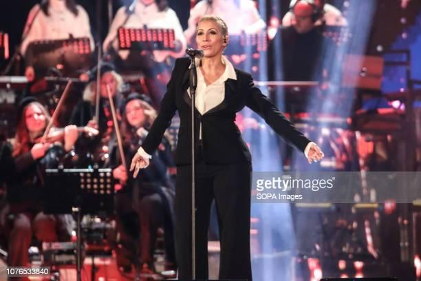 MATERA ITALY MATERA MT ITALY Malika Ayane seen performing during Rai1's New Year's television program L'anno che verrà in Matera