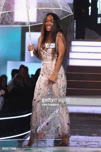 Malika Haqq attends the launch night of Celebrity Big Brother at Elstree Studios on January 2 2018 in Borehamwood England