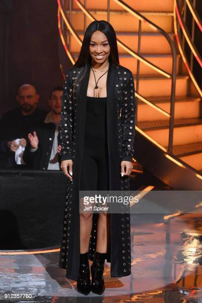 Malika Haqq during the Celebrity Big Brother eviction at Elstree Studios on January 30 2018 in Borehamwood England