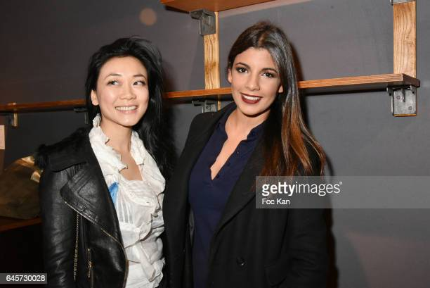 Malika Lambert and actress/TV presenter Donia Eden attend the Urban Anthology and Design Preview Cocktail at Artcurial on February 26 2017 in Paris...