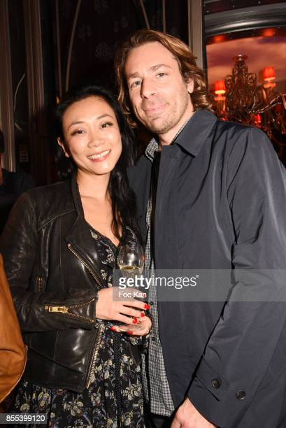 Malika Lambert and D'julz attend the 'Apero Gouter' Cocktail Hosted by Le Grand Seigneur Magazine at Bistrot Marguerite on September 28 2017 in Paris...