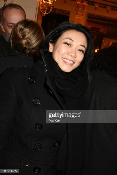 Malika Lambert attends Marc Cerrone Exhibition Preview at Deux Magots a on March 12 2018 in Paris France